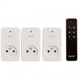 DIO de control Remoto de 3 canales y 3 módulos de toma DE encendido/APAGADO 1500W