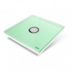 EDISIO - Plaque de recouvrement Diamond - Vert Clair 1 touche