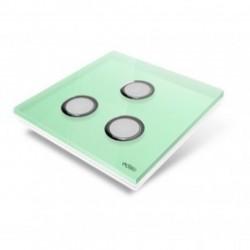 EDISIO - abdeckplatte Diamond - hellgrün 3 tasten