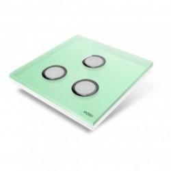 EDISIO - cover Plate Diamond - Light Green 3 keys