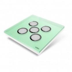 EDISIO - Plaque de recouvrement Diamond - Vert Clair 5 touches