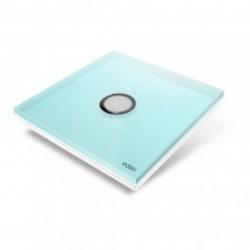 EDISIO - Plaque de recouvrement Diamond - Bleu Clair 1 touche