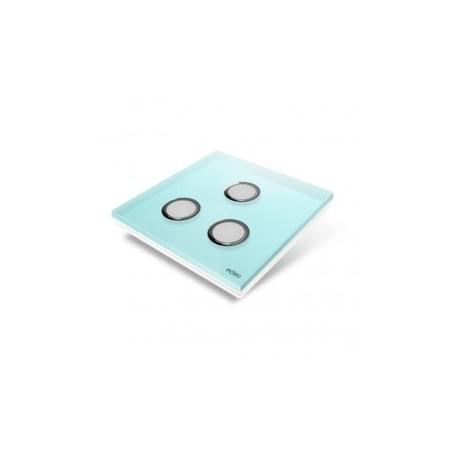 EDISIO - abdeckplatte-Diamond - Blau, 3 tasten