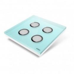 EDISIO - abdeckplatte Diamond - hellblau-4 tasten