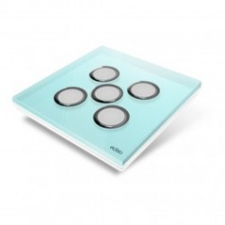 EDISIO - abdeckplatte-Diamond - Blau 5 tasten