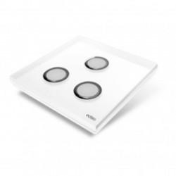 EDISIO - abdeckplatte Diamond - Weiß-3-tasten