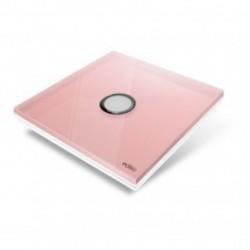EDISIO - Plaque de recouvrement Diamond - Rose 1 touche