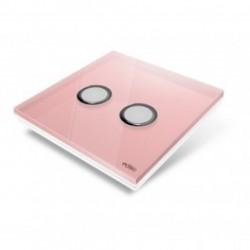 EDISIO - Plaque de recouvrement Diamond - Rose 2 touches