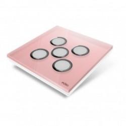 EDISIO de la cubierta de la Placa de Diamante de color Rosa-5 teclas