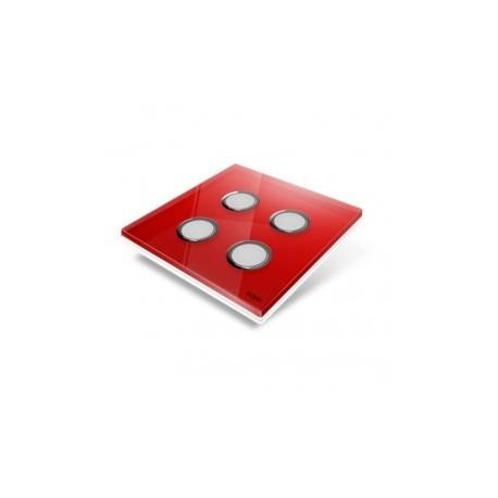 EDISIO - abdeckplatte-Diamond - Rot-4 tasten