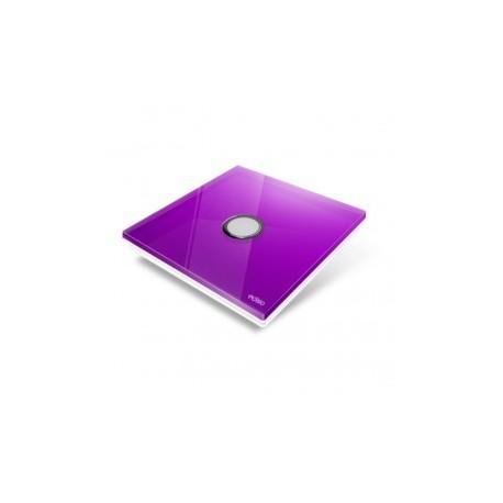 EDISIO - Plaque de recouvrement Diamond - Mauve 1 touche