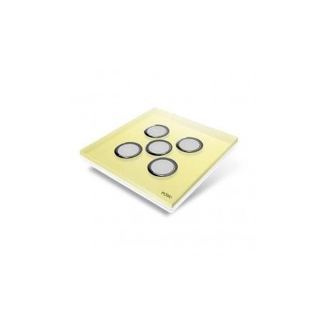 EDISIO - Plaque de recouvrement Diamond - Jaune 5 touches