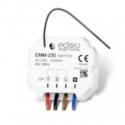 EDISIO - Micromodule transmitter 230 V - 2-channel