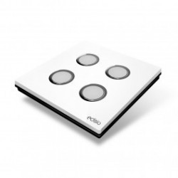 EDISIO - Switch Elegance White 4 Keys black Base