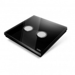 EDISIO - Switch Diamond black, 2 Keys, black Base
