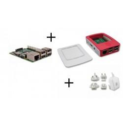 Frambuesa PI3 - Frambuesa Pi3 pack con fuente de alimentación y la caja