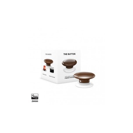 FIBARO - Bouton de commande The Button Z-Wave Plus marron
