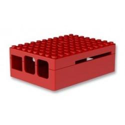 LAMPONE PI3 Caso Pi Blox per Raspberry Pi Modelli B+, 2, e 3 Modelli B, ABS, Rosso