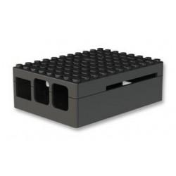LAMPONE PI3 Caso Pi Blox per Raspberry Pi Modelli B+, 2, e 3 Modelli B, ABS, Nero