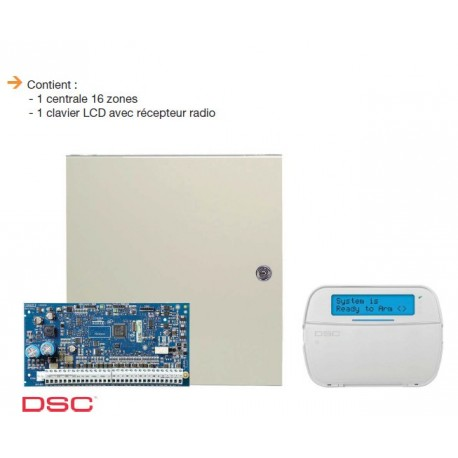 Alarm NEO DSC - Pack central alarm NEO 6 to 16 zones with keyboard