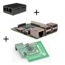 Frambuesa Raspberry Pi 3 Modelo B (WiFi y Bluetooth) con adaptador de z-wave.a mí,el caso de Lego negro