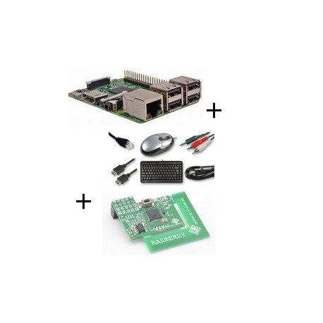 Frambuesa Raspberry Pi 3 Modelo B (WiFi y Bluetooth) con adaptador de z-wave.a mí y cable