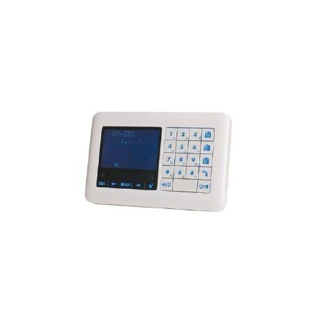 WK250 DSC Inalámbrico Premium Teclado táctil lector de placas de identificación, para la central de alarma Inalámbrica Premium