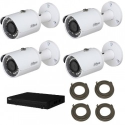 Dahua - Pack vidéosurveillance IP HD 1080P 4 caméras