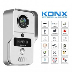 KONX KW02C+ - Portier video-WiFi-oder Ethernet / IP RFID leser mit klingel