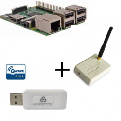 Raspberry PI3 Model B Plus - Contrôleur Z-wave Plus Everspring SA413 et Rfxcom