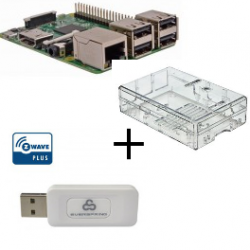 Raspberry PI-3-gehäuse transparent-controller Z-Wave Plus Everspring SA413