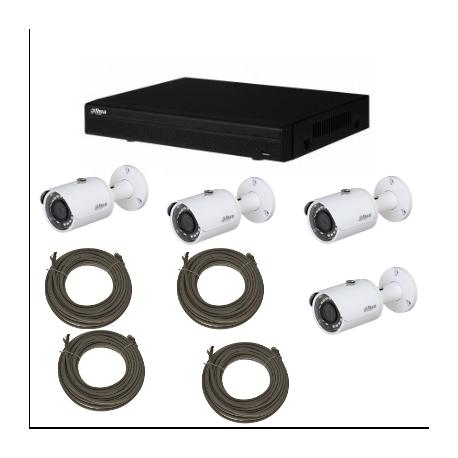 Pack video surveillance DAHUA IP 2MP 4 cameras