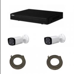 Pack di videosorveglianza IP DAHUA 4 Megapixel con 2 telecamere
