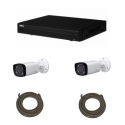 Pack DAHUA videoüberwachung IP 4 Megapixel 2 kameras