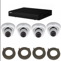 Pack vidéosurveillance DAHUA IP 1 Mégapixel 4 caméras dômes