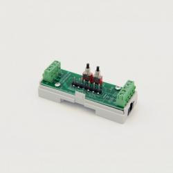 EUTONOMY S223 - Adaptador de euFIX DIN para Fibaro FGS-223 con botones
