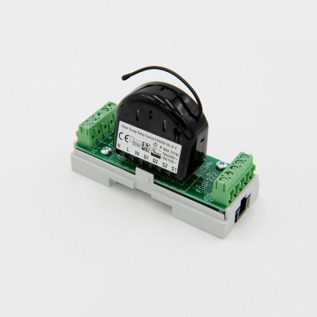 EUTONOMY S222 - Adattatore euFIX DIN per Fibaro FGS-222 con pulsanti