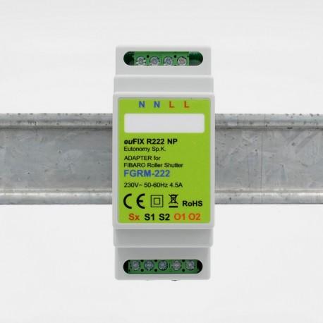 EUTONOMY - Adaptateur euFIX DIN pour Fibaro FGR-222 sans boutons