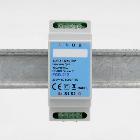 EUTONOMY - Adapter euFIX DIN-SCHIENEN-modul Fibaro FGD-212, ohne knöpfe zu drücken