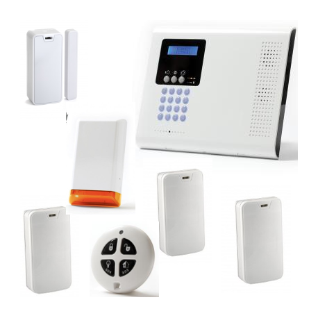Alarm house wireless - Pack Iconnect IP / GSM F3 / F4 with siren