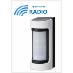 Optex VXS-RDAM - Détecteur radio IR / Hyperfréqunce extérieur grand angle antimasque