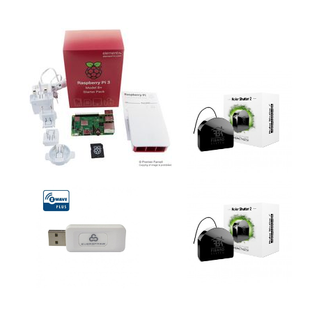 Jeedom pack haustechnik - Pack für Raspberry Pi-3, Z-Wave PLus-module FGR-222