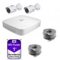 Dahua Kit video surveillance 2 cameras 4 Megapixels