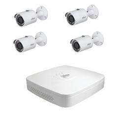Dahua Kit de video vigilancia de 4 cámaras HD-CVI 4 Megapíxeles
