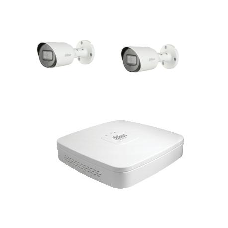 Dahua Kit de video vigilancia con 2 cámaras HD-CVI de 2 Megapíxeles