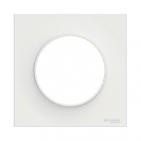 SCHNEIDER ELECTRIC - Plaque de finition BLANC pour interrupteur ODACE