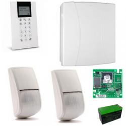 Risco LightSYS 2 - Pack zentralen alarm-wired IP + tastatur+ 2 sensoren + akku