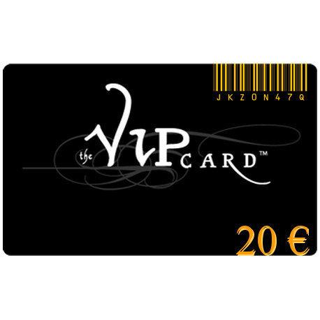 Gift card VIP with a value of 20€