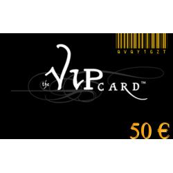 Tarjeta de regalo VIP, con un valor de 50€