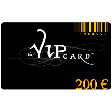 Gift card VIP with a value of 200€
